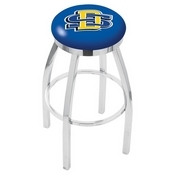 L8C2C - Chrome South Dakota State Swivel Bar Stool with Accent Ring by Holland Bar Stool Company