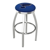 L8C2C - Chrome St Louis Blues Swivel Bar Stool with Accent Ring by Holland Bar Stool Company