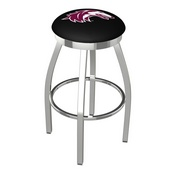 L8C2C - Chrome Southern Illinois Swivel Bar Stool with Accent Ring by Holland Bar Stool Company