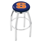 L8C2C - Chrome Syracuse Swivel Bar Stool with Accent Ring by Holland Bar Stool Company