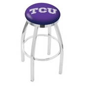 L8C2C - Chrome TCU Swivel Bar Stool with Accent Ring by Holland Bar Stool Company