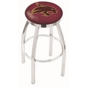 L8C2C - Chrome Texas State Swivel Bar Stool with Accent Ring by Holland Bar Stool Company