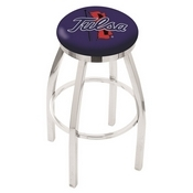 L8C2C - Chrome Tulsa Swivel Bar Stool with Accent Ring by Holland Bar Stool Company