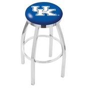 L8C2C - Chrome Kentucky UK Swivel Bar Stool with Accent Ring by Holland Bar Stool Company