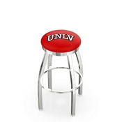 L8C2C - Chrome UNLV Swivel Bar Stool with Accent Ring by Holland Bar Stool Company