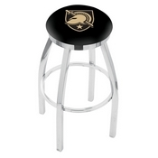 L8C2C - Chrome US Military Academy (ARMY) Swivel Bar Stool with Accent Ring by Holland Bar Stool Company
