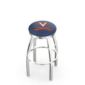 L8C2C - Chrome Virginia Swivel Bar Stool with Accent Ring by Holland Bar Stool Company