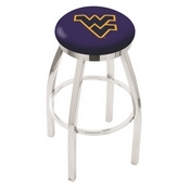L8C2C - Chrome West Virginia Swivel Bar Stool with Accent Ring by Holland Bar Stool Company