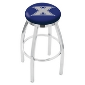 L8C2C - Chrome Xavier Swivel Bar Stool with Accent Ring by Holland Bar Stool Company