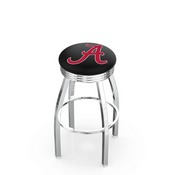 L8C3C - Chrome Alabama Swivel Bar Stool with 2.5 Ribbed Accent Ring by Holland Bar Stool Company (ALogo)