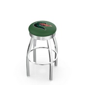 L8C3C - Chrome UAB Swivel Bar Stool with 2.5 Ribbed Accent Ring by Holland Bar Stool Company