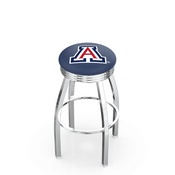 L8C3C - Chrome Arizona Swivel Bar Stool with 2.5 Ribbed Accent Ring by Holland Bar Stool Company