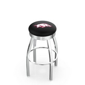 L8C3C - Chrome Arkansas Swivel Bar Stool with 2.5 Ribbed Accent Ring by Holland Bar Stool Company