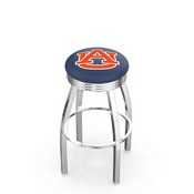 L8C3C - Chrome Auburn Swivel Bar Stool with 2.5 Ribbed Accent Ring by Holland Bar Stool Company
