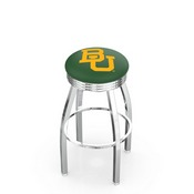 L8C3C - Chrome Baylor Swivel Bar Stool with 2.5 Ribbed Accent Ring by Holland Bar Stool Company