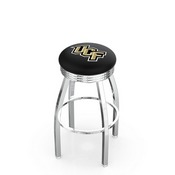 L8C3C - Chrome Central Florida Swivel Bar Stool with 2.5 Ribbed Accent Ring by Holland Bar Stool Company