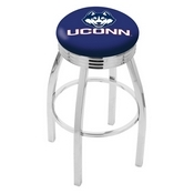 L8C3C - Chrome Connecticut Swivel Bar Stool with 2.5 Ribbed Accent Ring by Holland Bar Stool Company