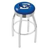 L8C3C - Chrome Creighton Swivel Bar Stool with 2.5 Ribbed Accent Ring by Holland Bar Stool Company