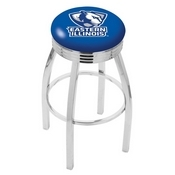 L8C3C - Chrome Eastern Illinois Swivel Bar Stool with 2.5 Ribbed Accent Ring by Holland Bar Stool Company