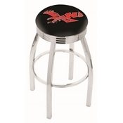L8C3C - Chrome Eastern Washington Swivel Bar Stool with 2.5 Ribbed Accent Ring by Holland Bar Stool Company