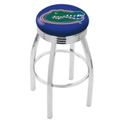 L8C3C - Chrome Florida Swivel Bar Stool with 2.5 Ribbed Accent Ring by Holland Bar Stool Company