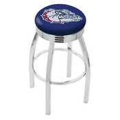 L8C3C - Chrome Gonzaga Swivel Bar Stool with 2.5 Ribbed Accent Ring by Holland Bar Stool Company