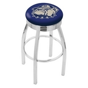 L8C3C - Chrome Georgetown Swivel Bar Stool with 2.5 Ribbed Accent Ring by Holland Bar Stool Company