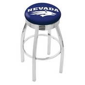 L8C3C - Chrome Nevada Swivel Bar Stool with 2.5 Ribbed Accent Ring by Holland Bar Stool Company