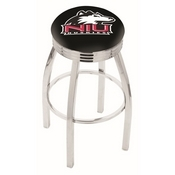 L8C3C - Chrome Northern Illinois Swivel Bar Stool with 2.5 Ribbed Accent Ring by Holland Bar Stool Company