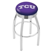 L8C3C - Chrome TCU Swivel Bar Stool with 2.5 Ribbed Accent Ring by Holland Bar Stool Company