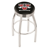 L8C3C - Chrome Valdosta State Swivel Bar Stool with 2.5 Ribbed Accent Ring by Holland Bar Stool Company