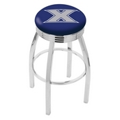 L8C3C - Chrome Xavier Swivel Bar Stool with 2.5 Ribbed Accent Ring by Holland Bar Stool Company