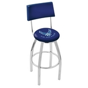 L8C4 - Chrome U.S. Air Force Swivel Bar Stool with a Back by Holland Bar Stool Company