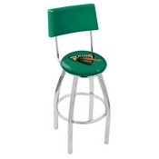 L8C4 - Chrome UAB Swivel Bar Stool with a Back by Holland Bar Stool Company