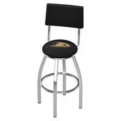 L8C4 - Chrome Anaheim Ducks Swivel Bar Stool with a Back by Holland Bar Stool Company