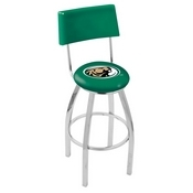 L8C4 - Chrome Bemidji State Swivel Bar Stool with a Back by Holland Bar Stool Company