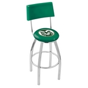L8C4 - Chrome Colorado State Swivel Bar Stool with a Back by Holland Bar Stool Company