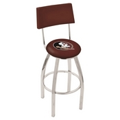 L8C4 - Chrome Florida State (Head) Swivel Bar Stool with a Back by Holland Bar Stool Company