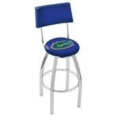L8C4 - Chrome Florida Swivel Bar Stool with a Back by Holland Bar Stool Company