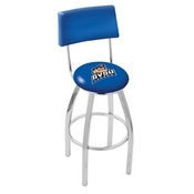 L8C4 - Chrome Grand Valley State Swivel Bar Stool with a Back by Holland Bar Stool Company