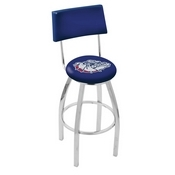 L8C4 - Chrome Gonzaga Swivel Bar Stool with a Back by Holland Bar Stool Company