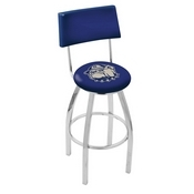 L8C4 - Chrome Georgetown Swivel Bar Stool with a Back by Holland Bar Stool Company