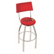 L8C4 - Chrome Illinois State Swivel Bar Stool with a Back by Holland Bar Stool Company