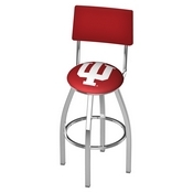 L8C4 - Chrome Indiana Swivel Bar Stool with a Back by Holland Bar Stool Company
