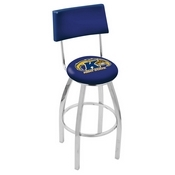 L8C4 - Chrome Kent State Swivel Bar Stool with a Back by Holland Bar Stool Company