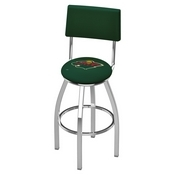 L8C4 - Chrome Minnesota Wild Swivel Bar Stool with a Back by Holland Bar Stool Company