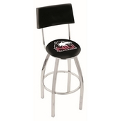 L8C4 - Chrome Northern Illinois Swivel Bar Stool with a Back by Holland Bar Stool Company