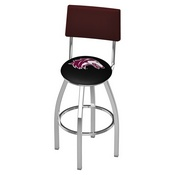 L8C4 - Chrome Southern Illinois Swivel Bar Stool with a Back by Holland Bar Stool Company