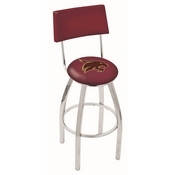 L8C4 - Chrome Texas State Swivel Bar Stool with a Back by Holland Bar Stool Company