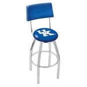 L8C4 - Chrome Kentucky UK Swivel Bar Stool with a Back by Holland Bar Stool Company
